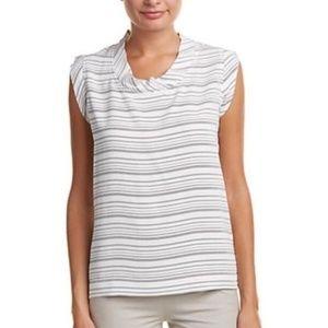 CAbi Madeline Top Size Medium Striped Sleeveless